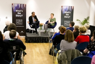 Dublin UNESCO City of Literature interview with Author Anthony Horowitz at Dublin City Library, Pearse Street. 