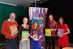 Winne The Witch Illustrator Korky Paul with Dublin UNESCO City of literature team
