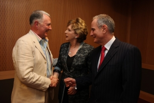 Broadcaster Mike Murphy with President of Ireland Mary McAleese and Martin McAleese