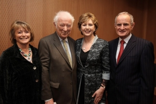 Marie Heaney, Seamus Heaney, President of Ireland Mary McAleese and Martin McAleese