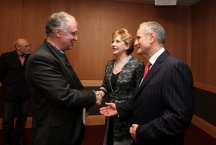 Author Joseph O'Connor, President of Ireland Mary McAleese and Martin McAleese