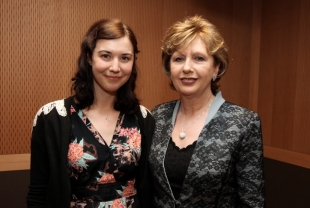 Singer Lisa Hannigan and President of Ireland Mary McAleese