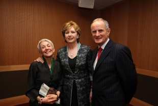 Poet Paula Meehan, President of Ireland Mary McAleese and Martin McAleese