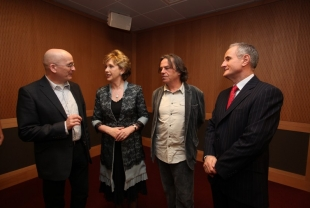 Author Roddy Doyle, President of Ireland Mary McAleese, Film Director Neil Jordan and Martin McAleese