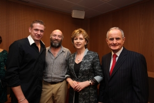 Damien Dempsey, unidentified, President of Ireland Mary McAleese and Martin McAleese