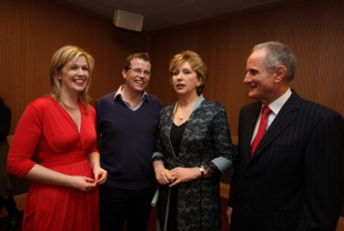 Mary McCarthy, Paul Howard, President of Ireland Mary McAleese and Martin McAleese
