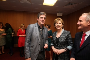 Sebastian Barry, President of Ireland Mary McAleese and Martin McAleese