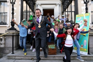The Lord Mayor of Dublin along with some superheroes and pirates