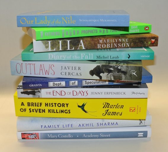 shortlist for International Dublin Literary Award 2016